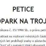 Petice – lesopark na trojmezí